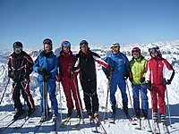 Skiing at the Marmolada<br />20th march 2011