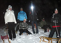 Sledging at the moonlight<br />26th march 2010